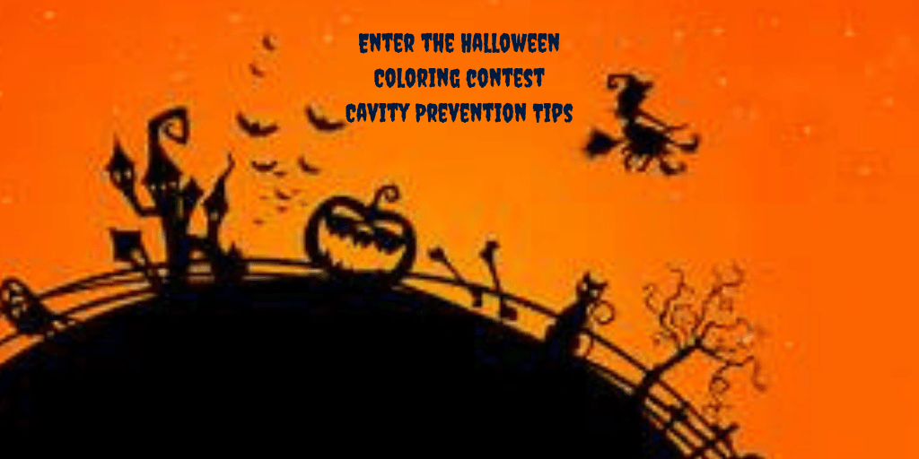 Keep those teeth healthy during halloween coloring contest