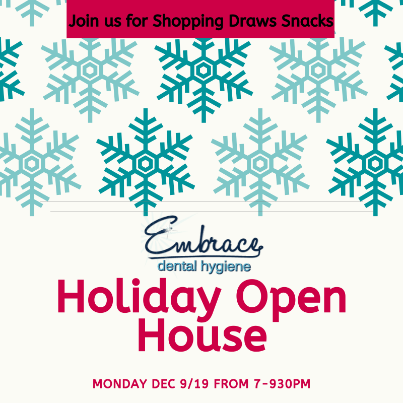 Holiday Open House Dec 9 from 7-930pm