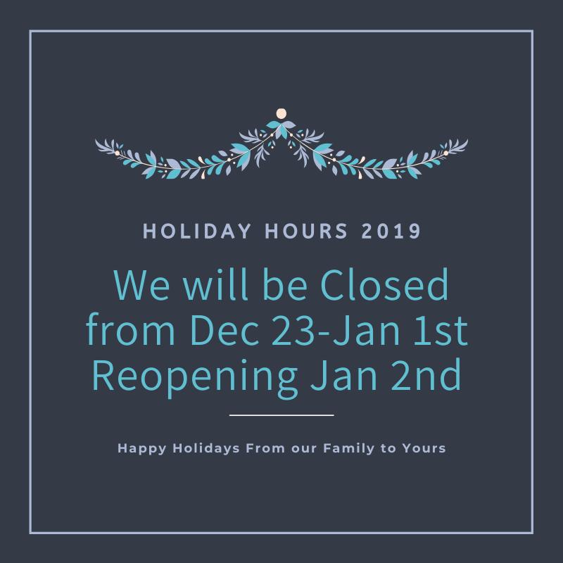 Embrace Dental Hygiene Holiday Hours 2019